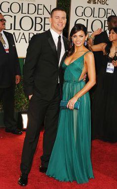 Channing Tatum + Jenna Dewan-Tatum 2012 Golden Globes #celebrities #celebrityfashion #redcarpet..!! Janney*