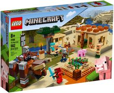 LEGO - Minecraft The Pillager Raid 21160 - Explore the best and the special ideas about Minecraft Skins Lego Minecraft, Minecraft Skins, Minecraft Houses, Minecraft Crafts, Lego Duplo, Lego Ninjago, Lego Disney, Village Lego, Legos