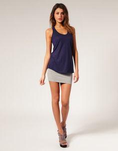 2639a60bc05882 Asos Collection Asos Jersey Micro Mini Skirt in Gray (greymarl) | Lyst Mini  Skirt