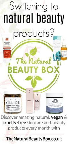 Your No Natural Vegan & Cruelty Free Beauty Subscription Box! Join us on a n Best Organic Makeup, All Natural Makeup, All Natural Skin Care, Natural Beauty, Beauty Box Subscriptions, Vegan Beauty, Belleza Natural, Beauty Products, Natural Products