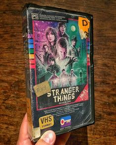Awesome fan art of Stranger Things. I was confused at first because I thought this was legit a VHS tape of Stranger Things. Awesome!