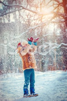 Child in winter royalty-free stock photo