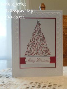 Snow Swirled tree by JJ Rubberduck - Cards and Paper Crafts at Splitcoaststampers