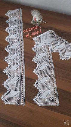 Dantel isi Filet Crochet, Crochet Lace Edging, Crochet Leaves, Crochet Borders, Crochet Cross, Cotton Crochet, Thread Crochet, Crochet Doilies, Hand Crochet