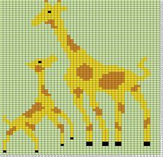 Giraffe Mommy and Baby