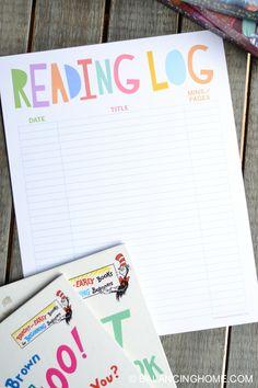 Reading Log Printable - Balancing Home