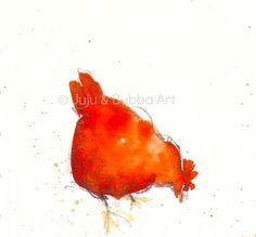 Little Red Hen  -  Jules @ Juju & Bubba Art & Illustration
