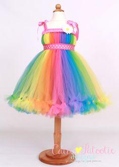 Petti Tutu Dress Halloween or Birthday by Cutiepatootiedesignz