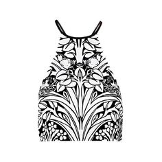 Alice McCall Printed Crop Top ($210) ❤ liked on Polyvore featuring tops, crop tops, white, zip top, cropped tops, halter neck tops, white sleeveless top and sleeveless crop top