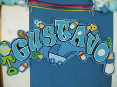 cartel goma eva Foam Crafts, Diy Crafts, Name Art, Ideas Para Fiestas, Love Letters, Lily, Baby Shower, Banners, Handmade