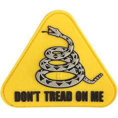 Don't Tread On Me Patch, Color, 3 x 2.6