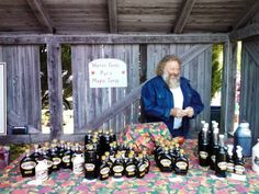 Annapolis Royal area maple syrup producer Robin Warren at Farmers Market