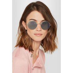 Sunday Somewhere Raine round-frame silver-tone sunglasses (£230) via Polyvore featuring accessories, eyewear, sunglasses, retro eyewear, round sunglasses, lightweight glasses, round frame sunglasses and retro glasses