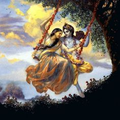 The immortal love between Krishna and Radha have been told, televised to us since childhood. The innocent lovers were made to part as Krishna had the great Krishna Radha, Lord Krishna Images, Radha Krishna Pictures, Krishna Photos, Radha Rani, Krishna Leela, Shree Krishna Wallpapers, Radha Krishna Wallpaper, Krishna Painting