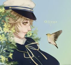 Beautiful anime fanart print of the Vocaloid Oliver by Leirix on Society6.
