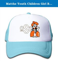 Matthe Youth Children Girl Boy Kids Skateboard Printed Pattern Oklahoma State University OSU Cowboys Logo Unisex Half Mesh Adjustable Baseball Cap Hat Snapback SkyBlue. The Cap Is Poly Foam Trucker Hat With Screen Print At Front Panel,you Can Find Sun Hats That Blocks Sun Rays From Your Face,ears,neck.You Can Browse Our Selection Of Other Options For Everything From Fishing,hiking,and Skiing To Running And Golf.