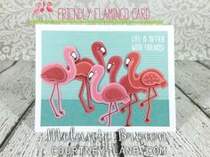 Friendly Flamingo card
