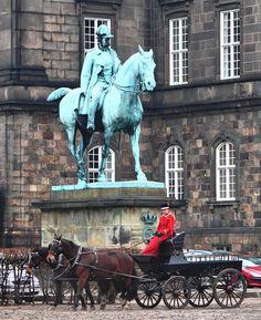 Horses in Christianborg - Copenhagen, Kobenhavn