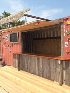 Shipping container I turned into a bar which was destroyed by Sandy. Breezy Point NY