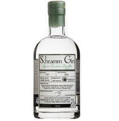 Schramm Gin. 44% ABV. Contemporary. Handcrafted in single batches, Schramm Gin is one of a few rare Gins distilled from a potato spirit. 8 Organic Herbs & Botanicals added to the still and allowed to rest in the spirit before completing the distillation performed by hand by Master Distiller, Tyler Schramm.