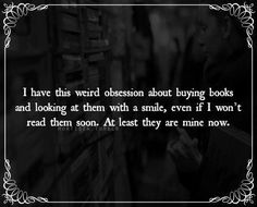 Its true, this is me. I even cleaned/reorganized my bookshelf so I have an entire empty shelf for more books. @darrenatearns saw it and instantly knew what time it was. Lol