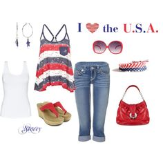 All American Summer, created by mrscowboy.polyvore.com