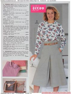 Culottes Outfit, Collor, Christmas Catalogs, Retro Vintage, Fall Winter, Lace, Pretty, Outfits, Tops
