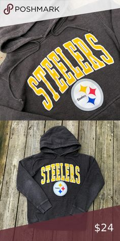 NFL Cut /& Sew Hoody Pittsburgh Steelers charcoal