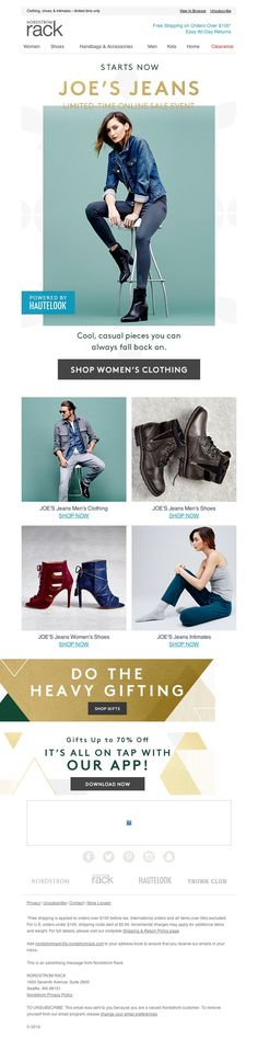 Nordstrom Rack - The JOE'S Jeans Event starts now!