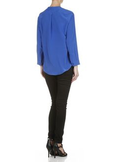 Top Esteline oversize en soie Bleu by SANDRO