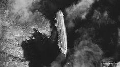 The Italian sunken cruiseship from space