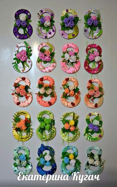 Фотография Ribbon Crafts, Flower Crafts, Paper Crafts, Diy And Crafts, Arts And Crafts, Floral Letters, Kitchen Decor Themes, 8th Of March, Diy Box