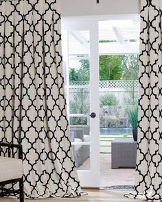Love these drapes for my office - you can order fabric samples for $3 per style