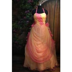 Pink Pleat Formal Evening Dress Prom Gown