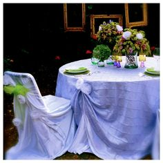 Lavender tablecloth, perfect at my garden