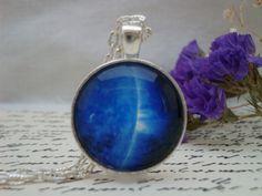 Galaxy IX- handmade glass pendant