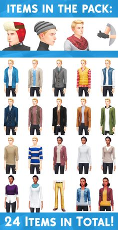 WINTER WEAR STUFF - A FANMADE PACK BY WYATTSSIMS... :