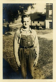 Snapshot Photo Well Secured Farm Boy Vintage Photo by DandRPhotos