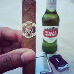 It's been a long day working in the yard doing some spring landscaping. Now it's time for my moment of #zen.  #namaste #avouveziancigars #avo #priceless #cigar #xikar colibri #stellaartois #cigar #cigars #cigarlifestyle #cigarlover #cigarlife_ #cigarporn  #cigarphotography #cigaraficionado  #cigaroftheday  #cigaraddict  #cigarart #cigarlounge  #cigarlover #relax #relaxing