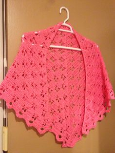 Hot pink butterfly stich shawl