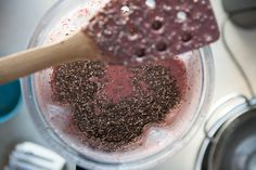 This cherry and chocolate chip chia pudding {say that 10 times fast} is #glutenfree #dairyfree #easy and delicious!