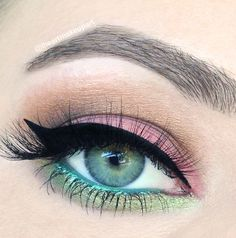 """Pink Tulip"" by iheartmakeupart using the Makeup Geek Cupcake, Glamorous, Mocha and Shimmermint eyeshadows with Immortal and Mystic gel liners."