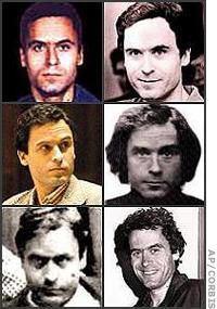 Ted Bundy: a handsome, educated psychopathic law student who stalked and murdered dozens of young college women who looked very much like a young woman who broke off her relationship with him. Bundy was a very adept and glib con artist who faked a broken arm in a sling to convince young women to help him carry his textbooks to his car. Once there, he battered them with a baseball bat and carried them off for ghoulish rituals.