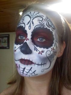 People are so much more talented to me when applying sugar skull makeup.