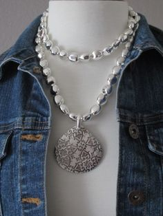 Premier Designs - Silver Chic (36-inch Necklace) - $49; Casual Cool (Enhancer) - $49  (Note: Casual Cool is a Necklace and Enhancer Both; Casual Cool Necklace not shown)
