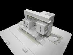 Cubic Architecture, Architecture Model Making, Architecture Collage, Concept Architecture, School Architecture, Architecture Design, Shipping Container Design, Arch Model, High Rise Building