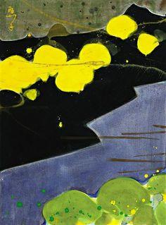 Teruko Yokoi - STILLES TAL, 1977, Tempera on wove... on MutualArt.com