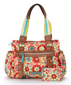 50ee408d13e41 Love this Lily Bloom Pink   Brown Botanical Blossom Satchel   Coin Purse by  Lily Bloom