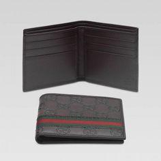 gucci 233100 fafxr 9643 bi fold geldb rse mit metallstab und eingraviertem interlo gucci herren. Black Bedroom Furniture Sets. Home Design Ideas