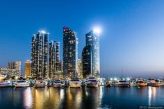 Busan Yachting Center by insung jeon on Places To Travel, Places To See, Busan Korea, Fantasy Places, Korean Wave, Beautiful Places, Amazing Places, Countries Of The World, South Korea